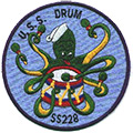 USS Drum patch
