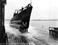 Launching of USS Drum (SS-228)