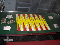 Table in crew's mess