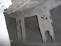 sandblasting and I-beam in tank